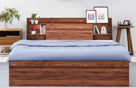 CasaStyle Ivoma Heavy Duty Engineered Wood Bed with Box Storage - 15mm Branded Engineered Wood