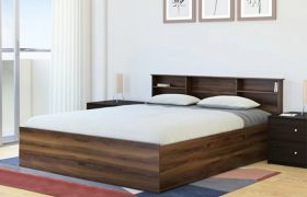 CasaStyle Cristan Heavy Duty Engineered Wood Bed with Box Storage - 15mm Branded Engineered Wood