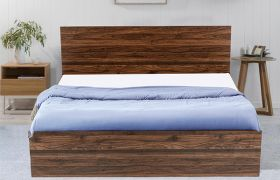CasaStyle Silzar Heavy Duty Engineered Wood Bed with Box Storage - 15mm Branded Engineered Wood