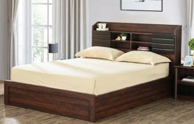 CasaStyle Venlaro  Heavy Duty Engineered Wood Bed with Box Storage - 15mm Branded Engineered Wood