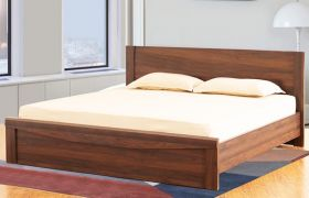 CasaStyle Woodlano  Heavy Duty Engineered Wood Bed Without Storage - 15mm Branded Engineered Wood