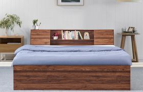 CasaStyle Danon Heavy Duty Engineered Wood Bed with Box Storage - 15mm Branded Engineered Wood