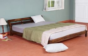 CasaStyle Geneva Teak Wood Bed (Teak Polish)