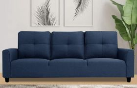 CasaStyle Alton 3 Seater Fabric Sofa Set (Blue)