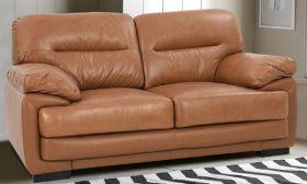 Casastyle Klaren 2 Seater Leatherette  Sofa (Camel)