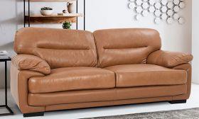 Casastyle Klaren 3 Seater Leatherette Sofa (Camel)