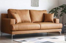 CasaStyle Clarita 3 Seater Leatherette Sofa Set (Camel)