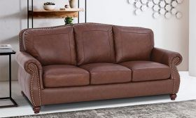 CasaStyle Roman 3 Seater Sofa (Brown)