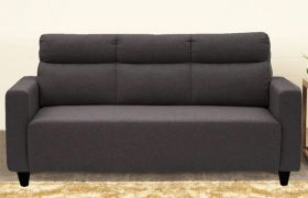 CasaStyle Emiloy 3 Seater Fabric Sofa Set (Dark Grey)