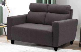 CasaStyle Emiloy 2 Seater Fabric Sofa Set (Dark Grey)