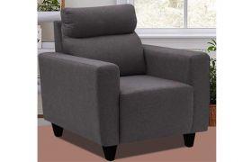 CasaStyle Emiloy 1 Seater Fabric Sofa Set (Dark Grey)