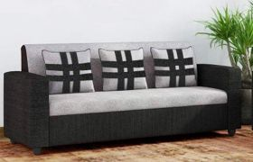 CasaStyle Casaliven 3 Seater Sofa (Grey-Black)