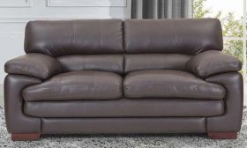 CasaStyle Melbourne Two Seater Leatherette Sofa (Brown)