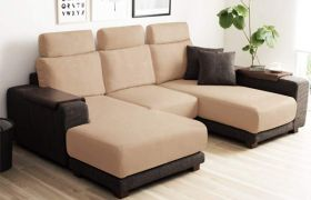 CasaStyle - Berly 5 Seater L shape RHS Sofa with movable Ottoman (Camel-Brown)
