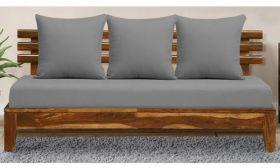 CasaStyle Nebula Three Seater Teakwood Sofa (Grey)