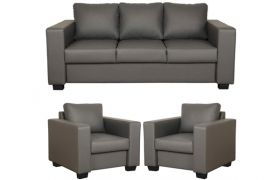 CasaStyle - Harleyson 3+1+1 Sofa Set (Dark Grey)