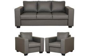 CasaStyle - Harleyson 3+1+1 Sofa Set (Dark Grey)