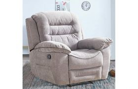 CasaStyle - LAVON 1 Seater Living Room Sofa Recliner in Fabric - Light Grey