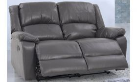 CasaStyle Stark Two Seater Recliner Sofa in Leatherette (Grey)