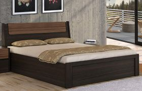 CasaStyle Dassle Engineered Wood Bed with Hydraulic Storage