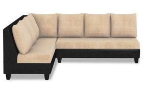 CasaStyle Audrey Six Seater L shape Sofa Set Beige-Black
