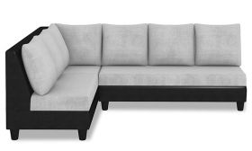 CasaStyle Audrey Six Seater L shape Sofa Set Light Grey-Black