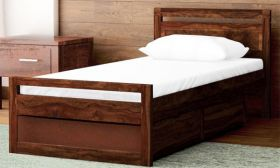 CasaStyle Arion Single Size Teakwood Bed with Storage