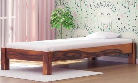 CasaStyle Asmino Single Size Teak Wood Bed