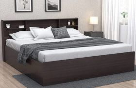 CasaStyle Asseson Engineered Wood Bed with Box Storage