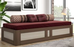 CasaStyle Bracer Engineered Wood Sofa Cum Bed with Box Storage