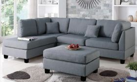 CasaStyle Brenna 5 Seater LHS L Shape Sofa Set For Living Room