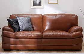 CasaStyle - Bressany 3 Seater Leatherette Sofa Set (Brown)
