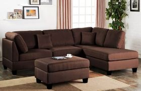 CasaStyle Bronna L Shape Sofa Set (Brown)
