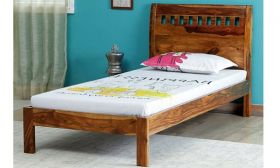 CasaStyle Carsino Single Size Teak Wood Bed