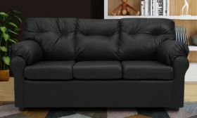 CasaStyle Emrado Three Seater Leatherette Sofa