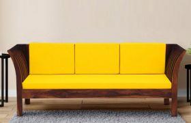 CasaStyle Impianzo 3 Seater Teakwood Sofa (Teak Polish)
