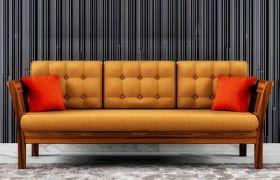 CasaStyle Oreganoz 3 Seater Teakwood Sofa (Teak Polish)