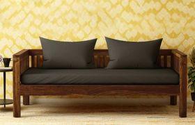 CasaStyle Ovano 3 Seater Teakwood Sofa (Teak Polish)