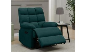 CasaStyle Ronbie One Seater Fabric Recliner (Teal)