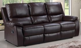 CasaStyle Swester Three Seater Recliner (Brown)