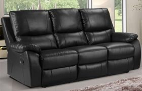CasaStyle Swester Three Seater Recliner (Black)