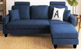 CasaStyle Ashlyn Four Seater Sectional  Sofa (Blue)