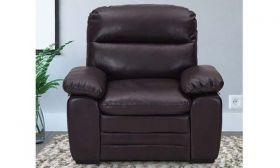 CasaStyle Astro One Seater Leatherette Sofa (Brown)