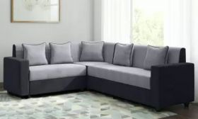 CasaStyle CasaLiving Six Seater Corner Sofa (Grey-Black)