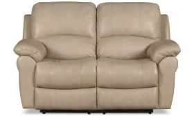 Casastyle Cobster Two Seater Recliner Sofa in Leatherette (Cream)