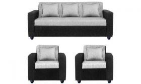 Casastyle - Cosimo Five Seater Sofa Set 3-1-1 (Grey)   Deep Seating and Spacious Design I 32 Density Soft & Comfortable   3 Yr. Assurance