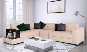 CasaStyle Cynthia Six Seater LHS L Shape Sofa Set