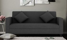 CasaStyle Diana Three Seater Sofa (Dark Grey)