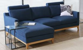 Casastyle Dorby Four Seater LHS Sofa (Blue)