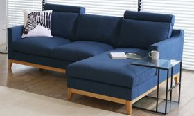 Casastyle Dorby Four Seater RHS Sofa (Blue)